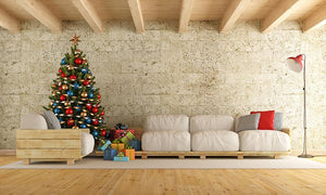 Christmas Sofa Corner Photography Backdrops for Party IBD-19393