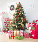 Christmas Tree Surrounded by Gifts Background Festival Backdrops IBD-19296