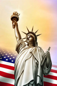 Bunting Backdrop USA Flag Backdrop Statue Of Liberty Background