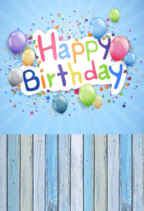 Birthday Backdrops Wood Backgrounds Customized Backdrop G-003
