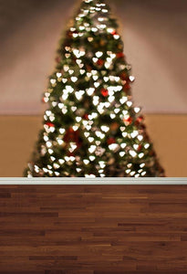 Christmas Photography Backdrop Wood flooring Background G-025