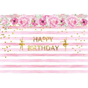 Birthday Party Backdrops Flowers Background Pink Backdrops G-130