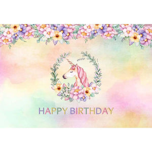 Birthday Party Backdrops Unicorn Backdrop Pink Background G-137