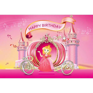 Birthday Party Backdrops Princess Backdrops Pink Background G-142