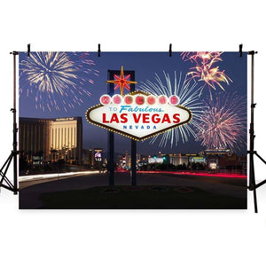 Attractions Iconic Landmarks Las Vegas Themed Backdrop G-162