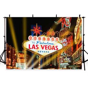 Attractions Iconic Landmarks Las Vegas Backdrop G-165