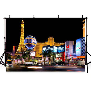 Attractions & Iconic Landmarks Backdrops Night Backdrops G-173