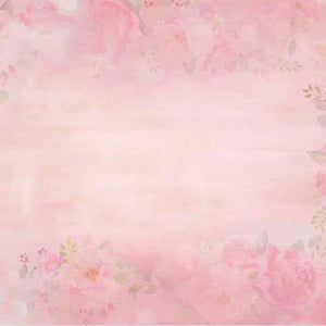 Patterned Background Flowers Backdrops Pink Backdrops G-178