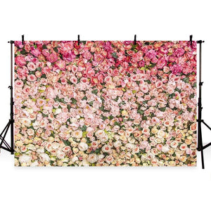 Patterned Backgrounds Flowers Backdrops Gradient Pink Backdrop G-181