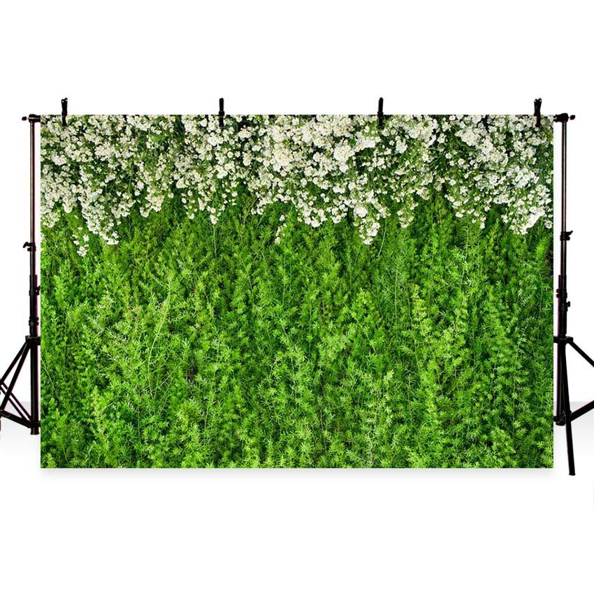 Patterned Backdrops Flowers Background Green Backdrop G-186