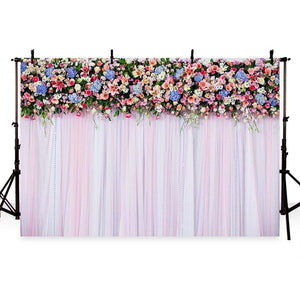 Patterned Backdrops Rose Backdrop Curtain Backgrounds G-189