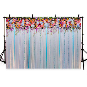 Patterned Backdrops Flower Backdrop Curtain Background G-190