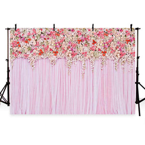 Patterned Backdrops Flower Backdrops Pink Backgrounds G-191