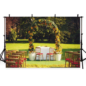 Wedding Backdrops Grass Backdrop Fall Background G-211