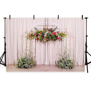 Wedding Backdrops Pink Background Flowers Backdrop G-216