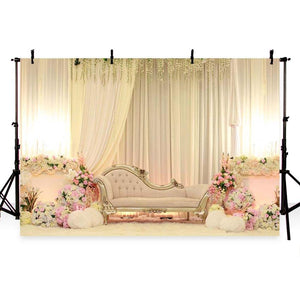 Wedding Backdrops Flowers Backdrops White Background G-221