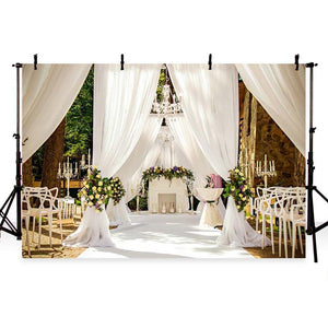 Wedding Backdrops Flowers Backdrops White Background G-222
