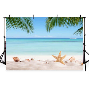 Scenic Background Beaches Backdrops Ocean Backdrop Blue Sky G-228