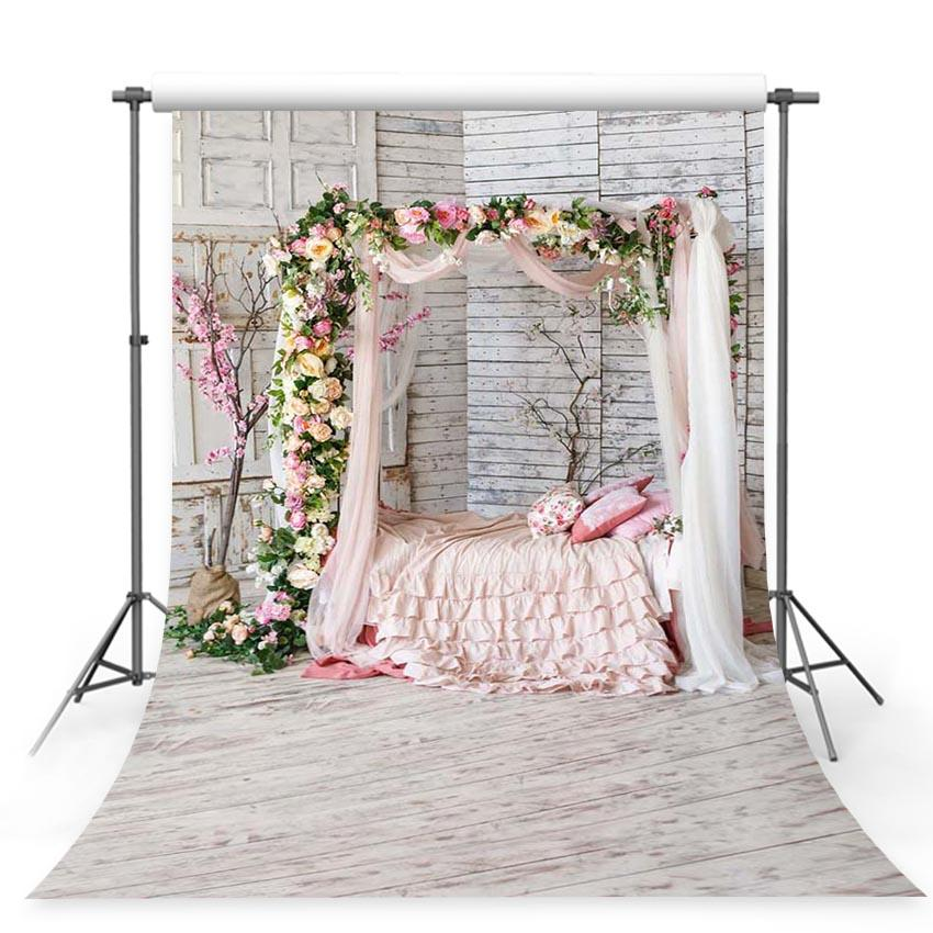 Wedding Backdrops Flowers Background Pink Backdrops G-236