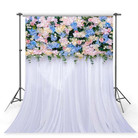 Patterned Backdrops Flower Backdrop Curtain Backgrounds G-244