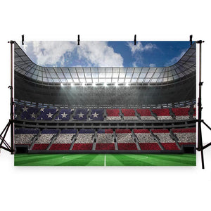 Soccer Background Green Backdrops G-255