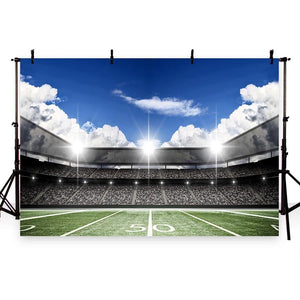 Football Background Green Backdrops G-260