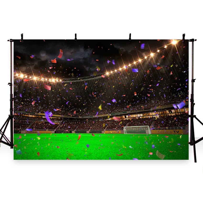 Soccer Background Green Backdrops G-269