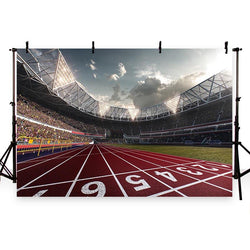 Football Background Red Backdrops G-271