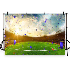 Soccer Background Green Backdrop G-279