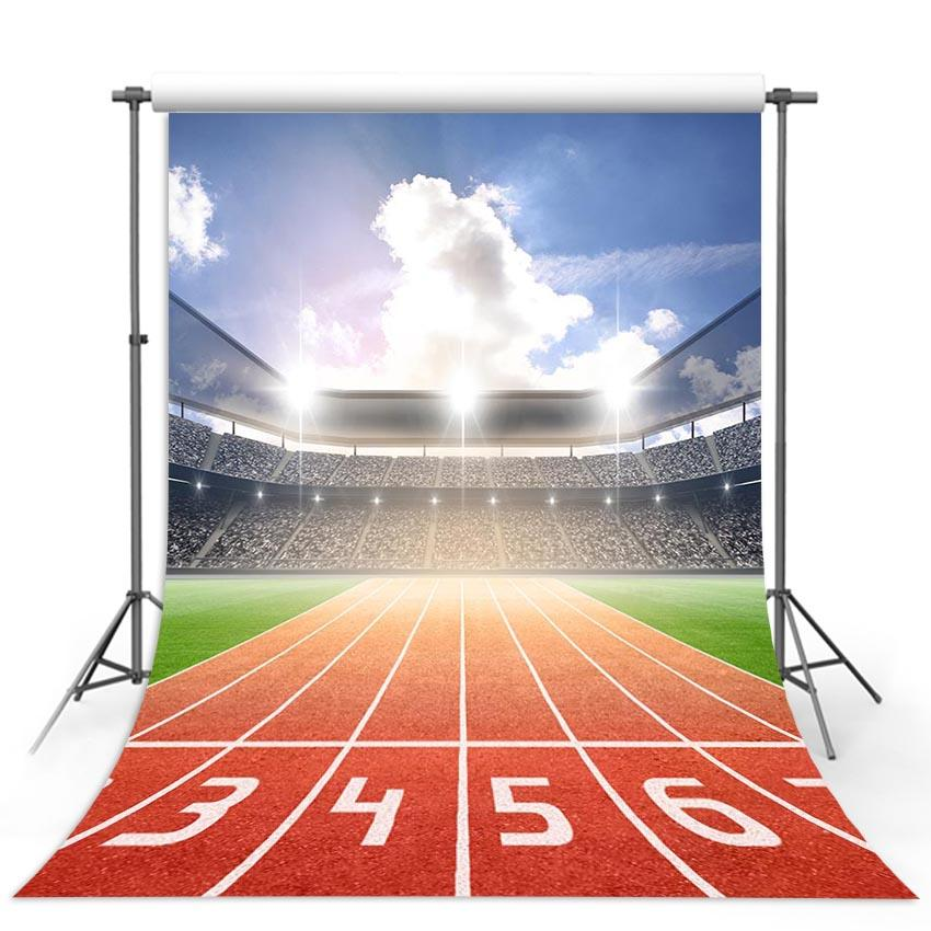 Football Background Red Backdrops G-289