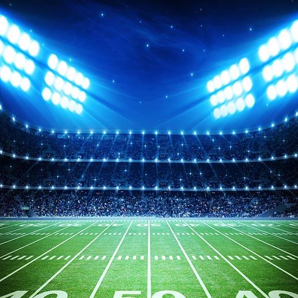 Football Background Blue Backdrops G-296 - iBACKDROP