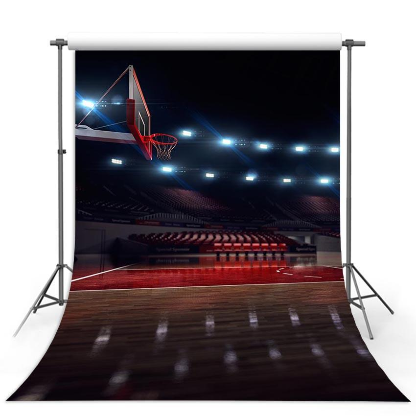 Basketball Court Backdrops Sport Backdrops Photography Background G-312 - iBACKDROP-Basketball Court Backdrops, Photography Background, Sport Backdrops