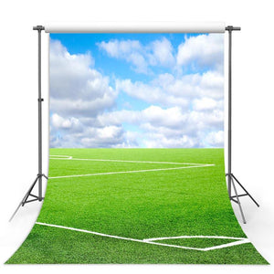 Soccer Backdrop Green Background G-315