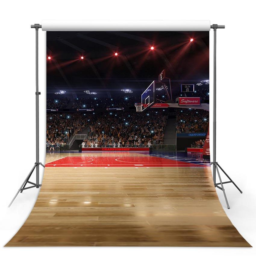 Basketball Backdrops Red Backgrounds G-318 - iBACKDROP-Backdrop Beautiful, Cheap Backdrop, Paper Flower Backdrop, Patterned Backdrops, Themed Patterned Backdrops