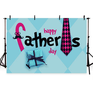 Father's Day Backdrop Blue Backdrop G-335