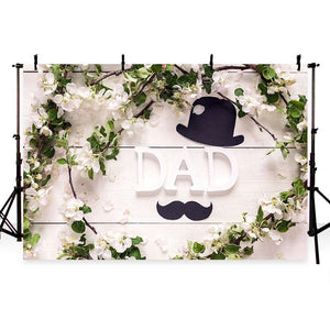 Father's Day Backgrounds Flowers Backdrop G-340
