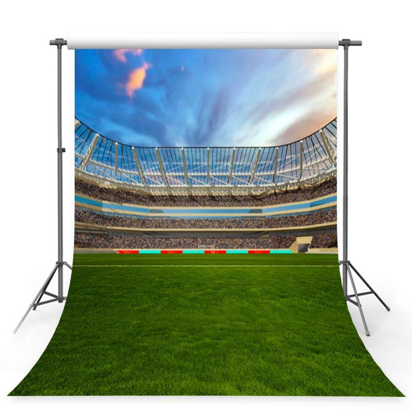 Soccer Backdrops Green Backgrounds G-378