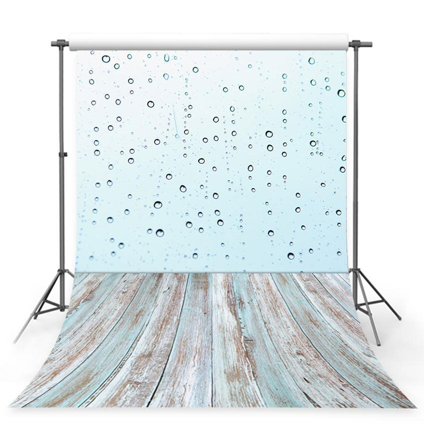 Wood Backdrops Wooden Backdrop Blue Backgrounds Water Drop G-408