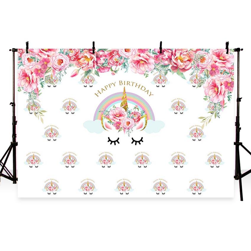 Birthday Party Backdrops For Events Backdrop Pink Background G-417