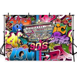 Scenic Backdrops Urban Backgrounds Graffiti Backdrop Blue Wall G-427