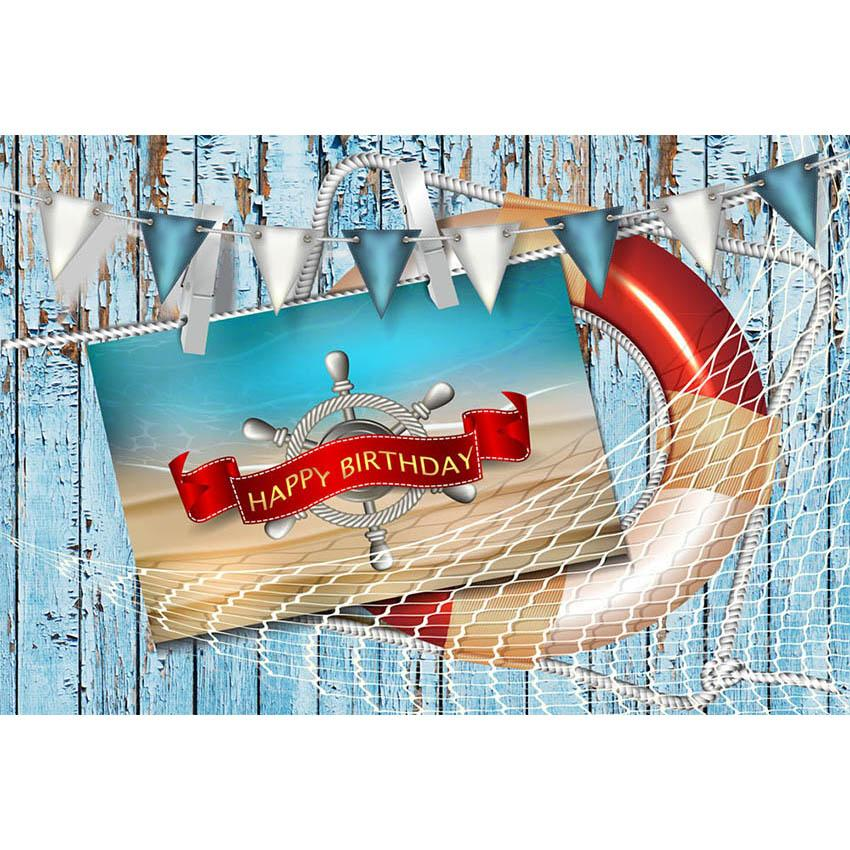 Birthday Party Backdrops Beach Background Blue Backdrops G-440