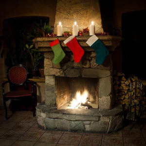 Christmas Backdrops Stove Background Socks Backdrop G-446