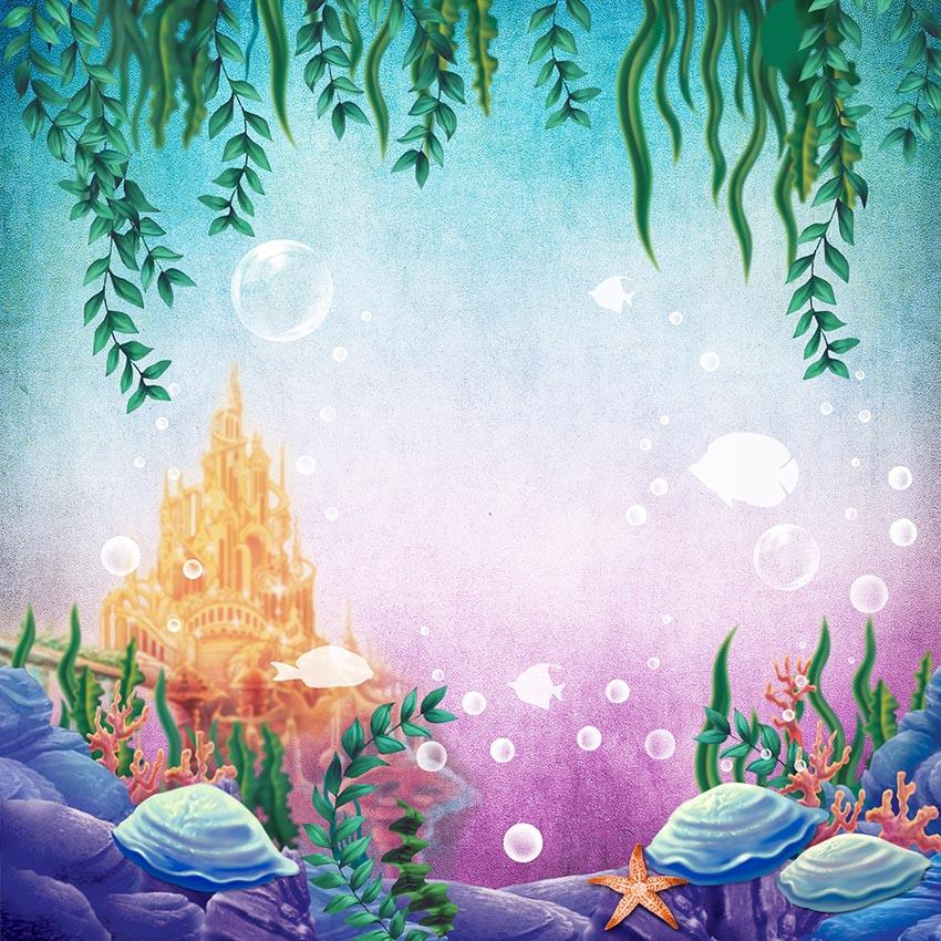 Baby Backgrounds Cartoon Fairytale Backdrops Sea Backdrop G-449 - iBACKDROP-Baby Kid Backdrops, Cartoon Fairytale Backdrops, Dinosaur Backdrop