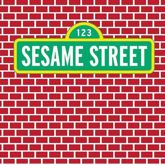 Baby Background Cartoon Fairytale Backdrops Sesame Street Backdrop G-478