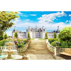 Castle Backdrops Sky Backdrops Trees Background G-493