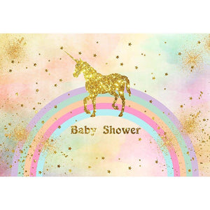 Baby Show Backdrops Unicorn Backdrops Colorful Background G-515