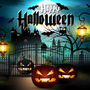 Halloween Backdrops Pumpkin Background Halloween Photo Backdrops G-521 - iBACKDROP