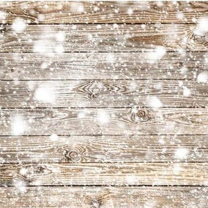 Wooden Backdrop Snowflake Backdrop Winter Background G-533