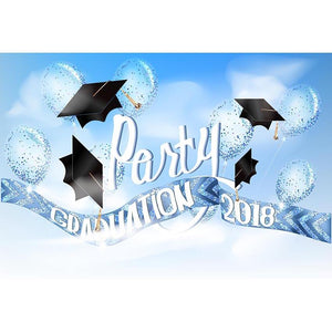 Graduation Backdrop Blue Backdrop G-537