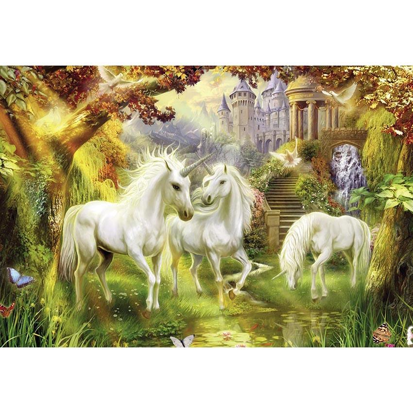 Animal Background Cute Backdrops Unicorn Backdrop G-539